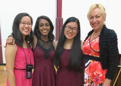 Helen Wang, Nadhisha Edwards, Christina Zhang, Christine  Knapp